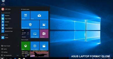 Asus Laptop Format Nasıl Atılır