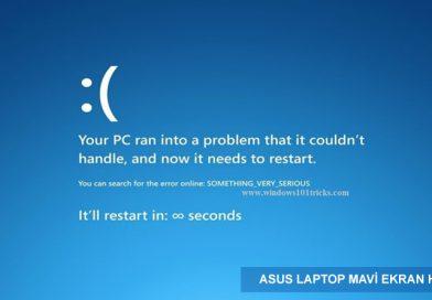 Asus Mavi Ekran Çözümü